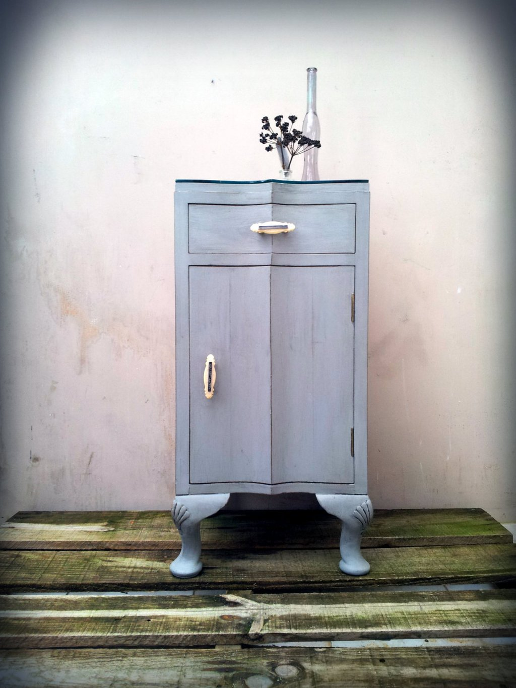 Bedside Bathroom Cabinet 1940 Arthouseattic Etsy Solid Wood Vanity Units For Bathrooms