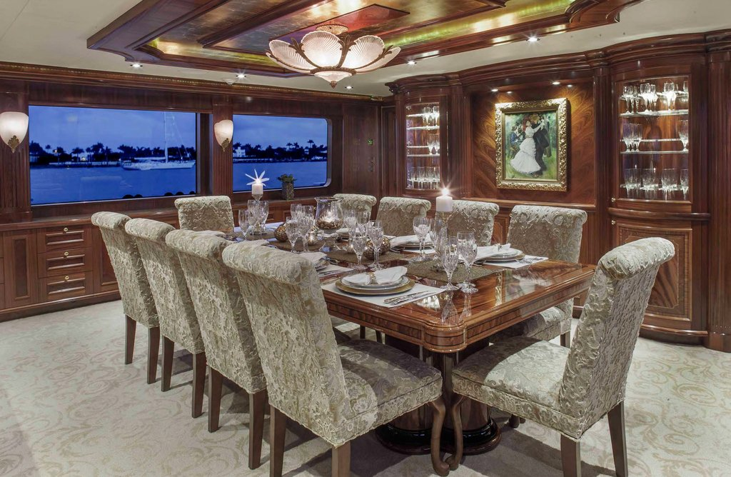 Bellatrix Azimut 68   Interior Dining Luxury Color Design For House Interior Dining Room