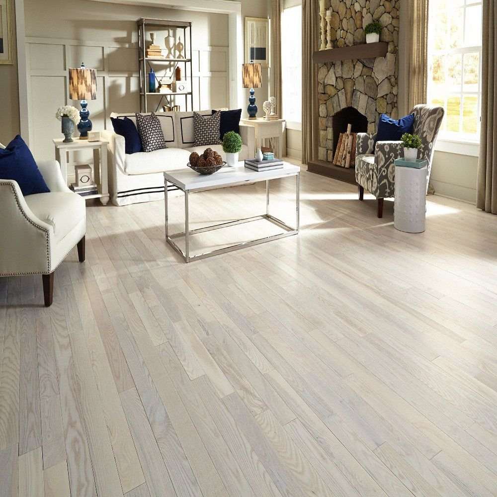 Bellawood 3 4 Quot 5 Quot Matte Carriage House White Ash Lumber White Washed Laminate Flooring With Vinegar