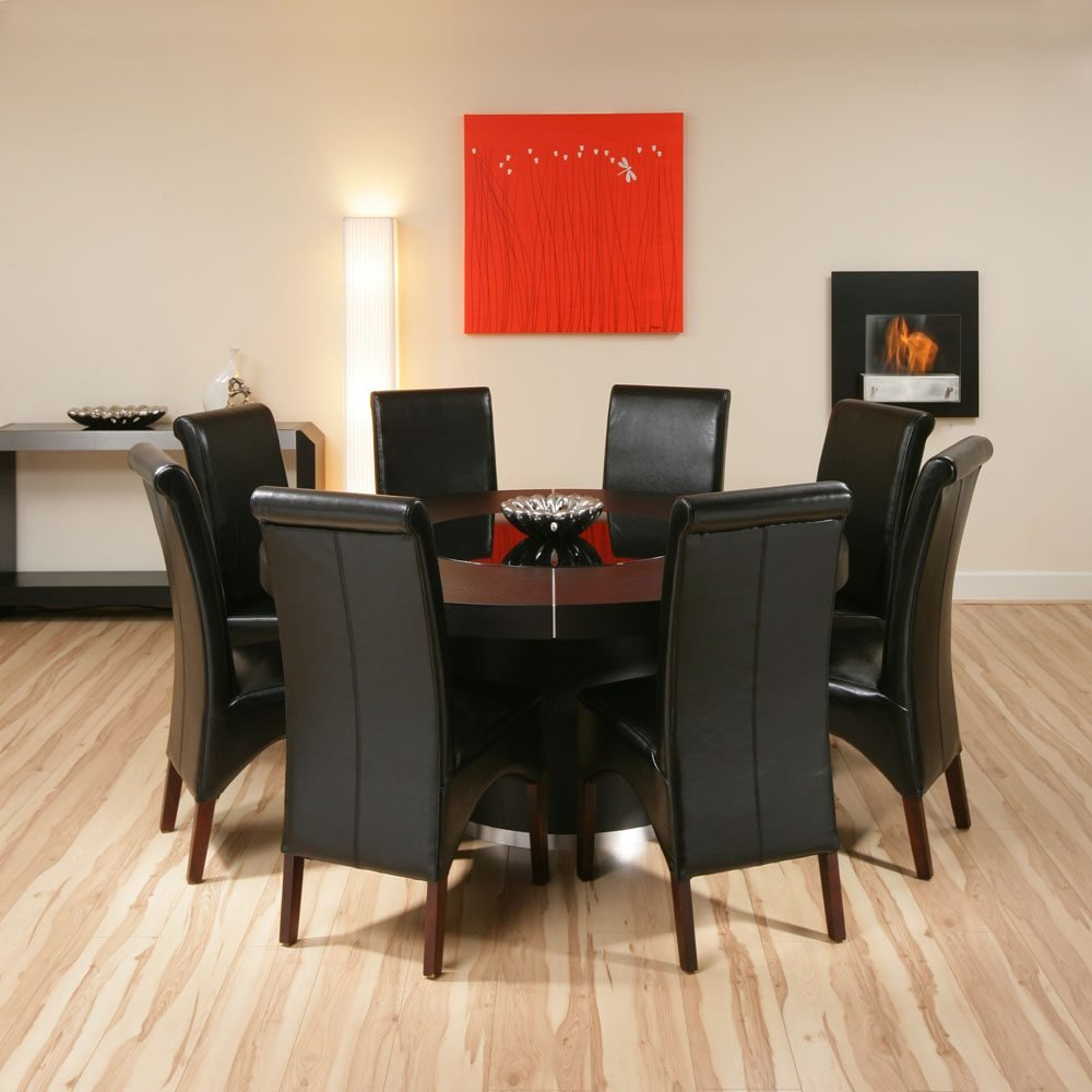 Black Dining Table Seat 8 Dining Table The Advantages Of A 60 Inch Round Dining Table