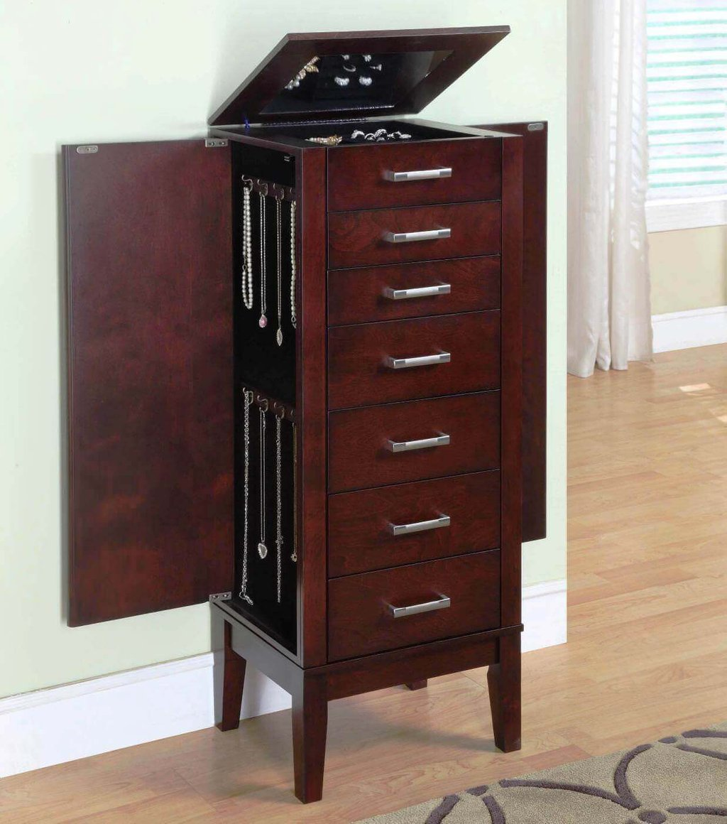 Black Jewelry Armoire Beautiful Jewelry Modern Mirrored Console Table