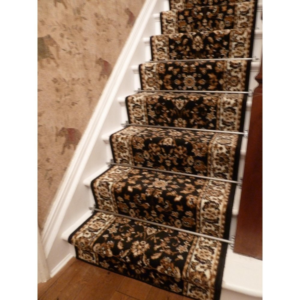 Black Traditional Stair Carpet Runner Home Decoration How Make Rolling File Cabinet