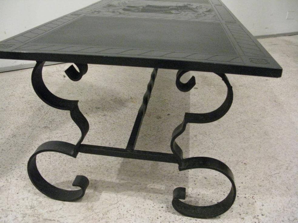 Black Wrought Iron Coffee Table Home Design Decor How To Restore Wrought Iron End Tables