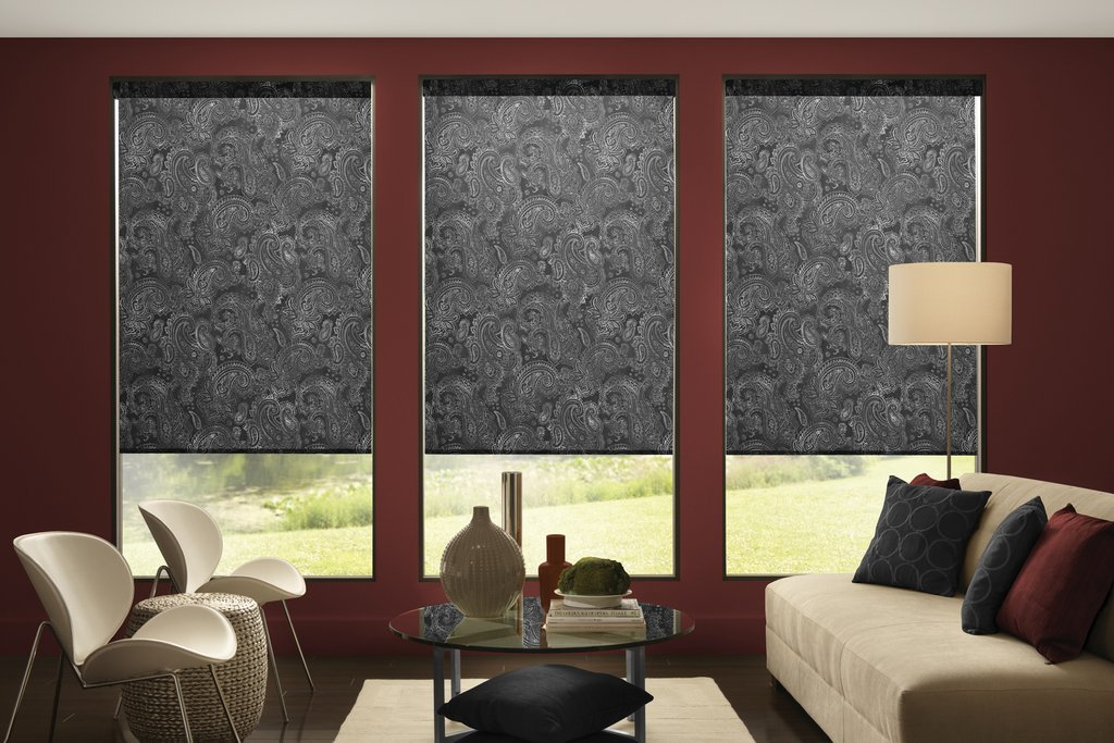 Blind Decor Custom Printed Window Shade Persona Sectional Sofas For Small Spaces Modern