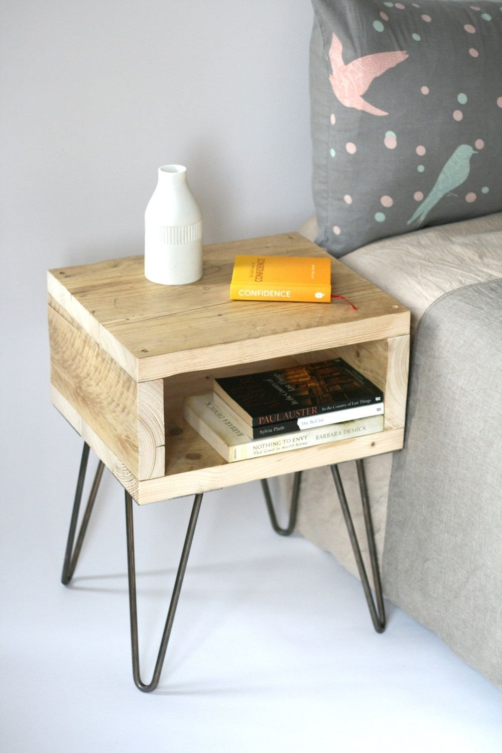 Blondie Bedside Table Reclaimed Wood Side Table How To Reclaimed Wood Side Table