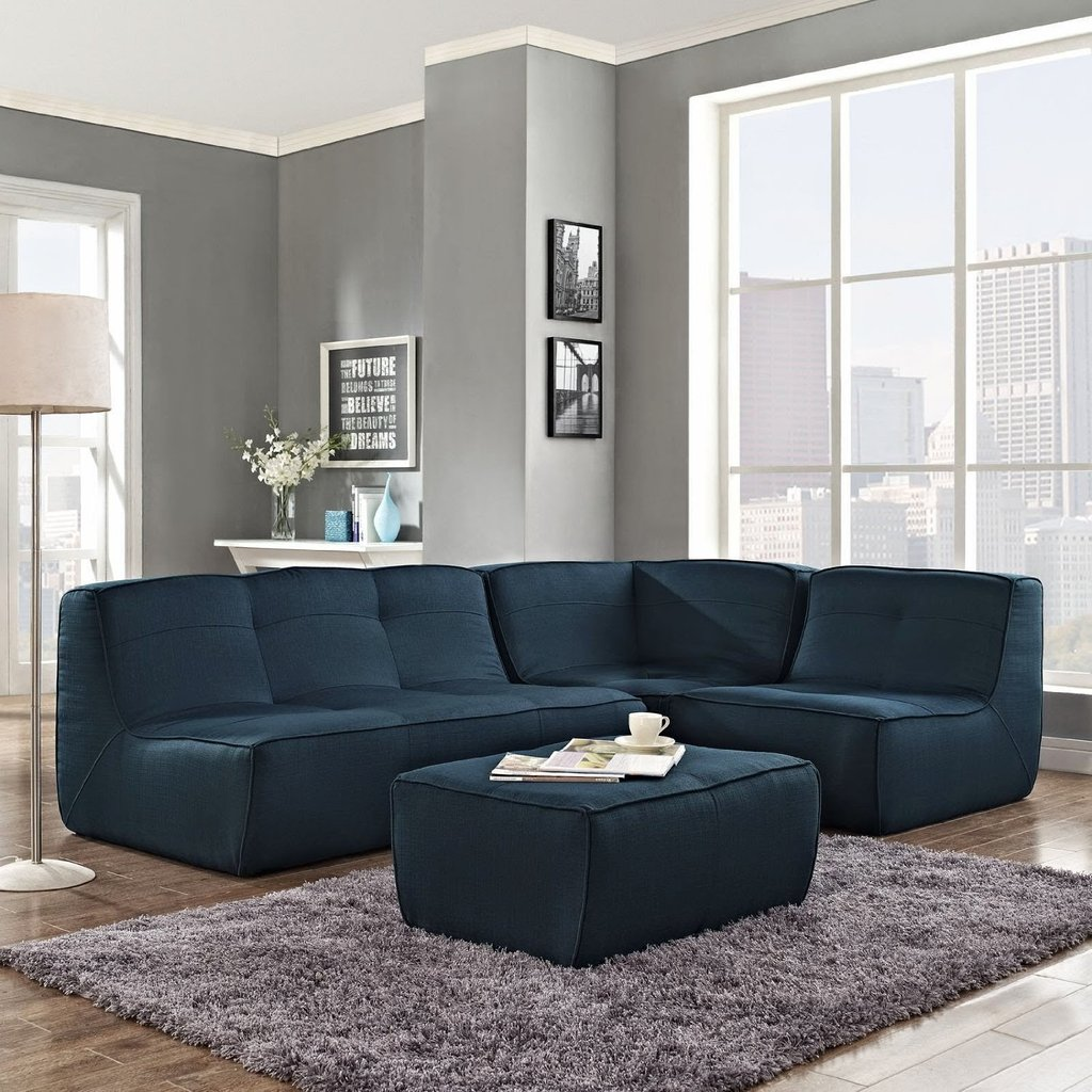 Blue Couch Blue Sectional Couch Deep Sectional Sofas Living Room Furniture
