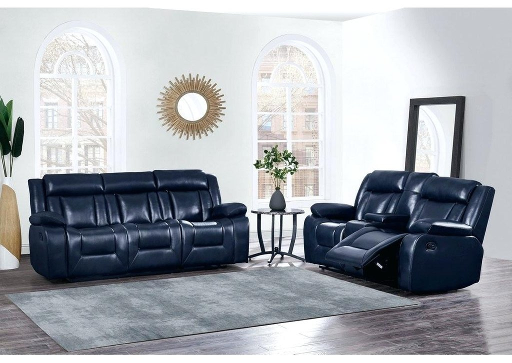 Blue Reclining Sofa Blue Leather Reclining Sofa Large How A Reclining Sofa To Function Properly