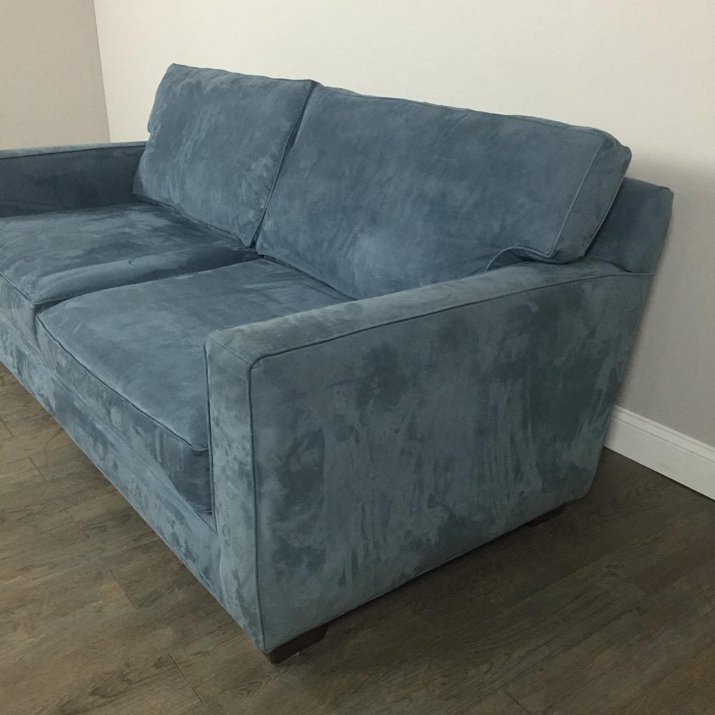 Blue Suede Sofa Suede Couch Home