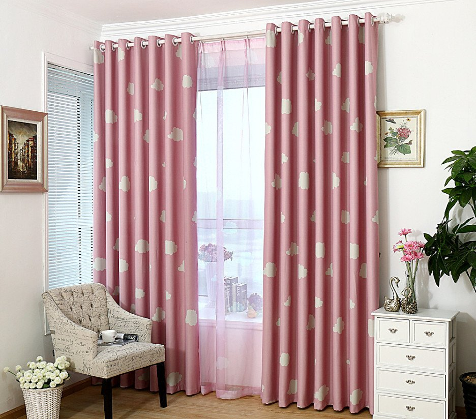 Blush Pink Blackout Curtain Rustyridergirl 2 Drawer Lateral File Cabinet Wood