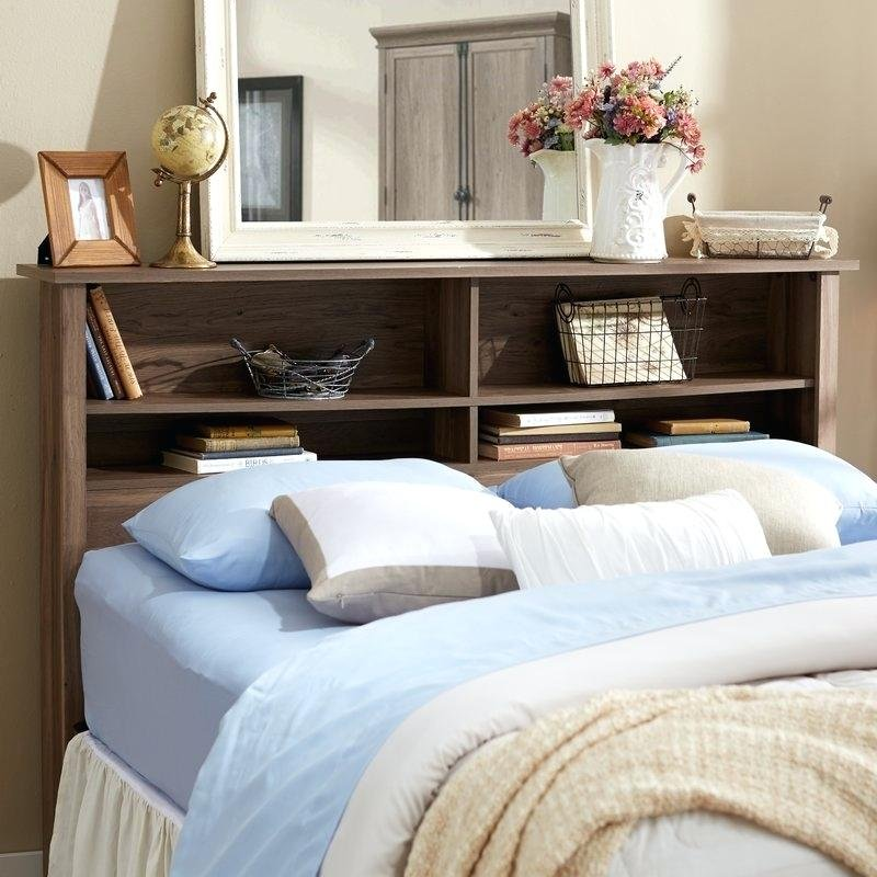 Bookshelve Headboard Mainstay Twin Storage Bed How Make Queen Bookcase Headboard
