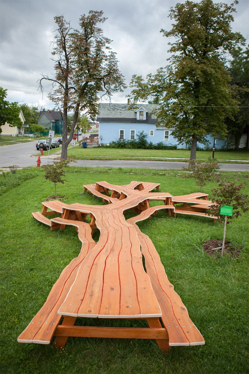 Branching Looping Wooden Table Michael Beitz Colossal Make A Tree Trunk Coffee Table