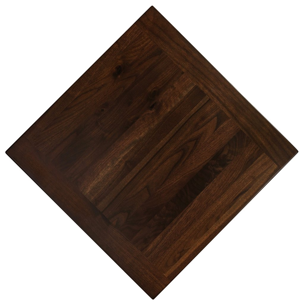 Breadboard Walnut Chocolate Color 3 Restaurant Table Tops Plan