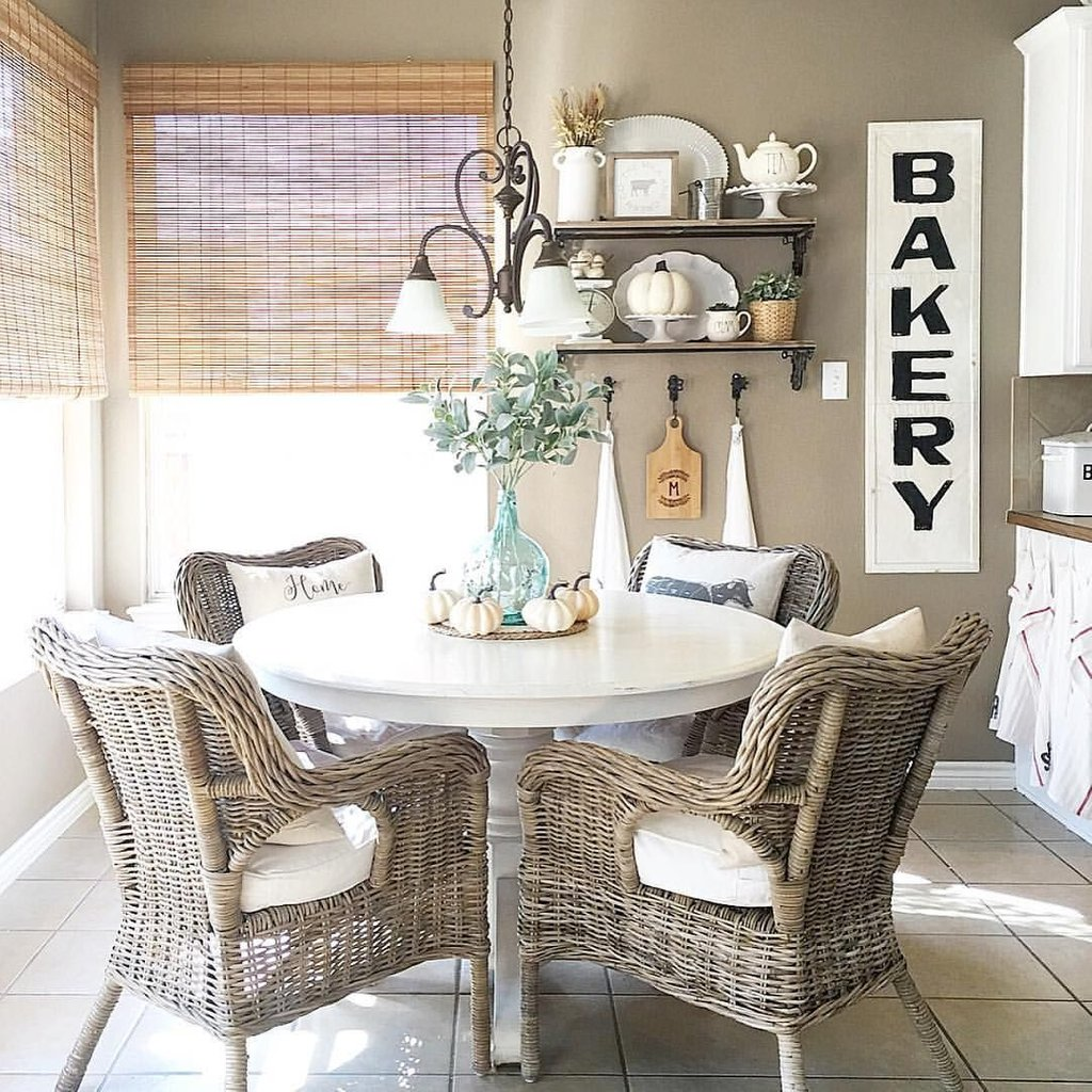 Breakfast Nook Farmhouse Style Instagram How To Repair Rattan Dining Chairs