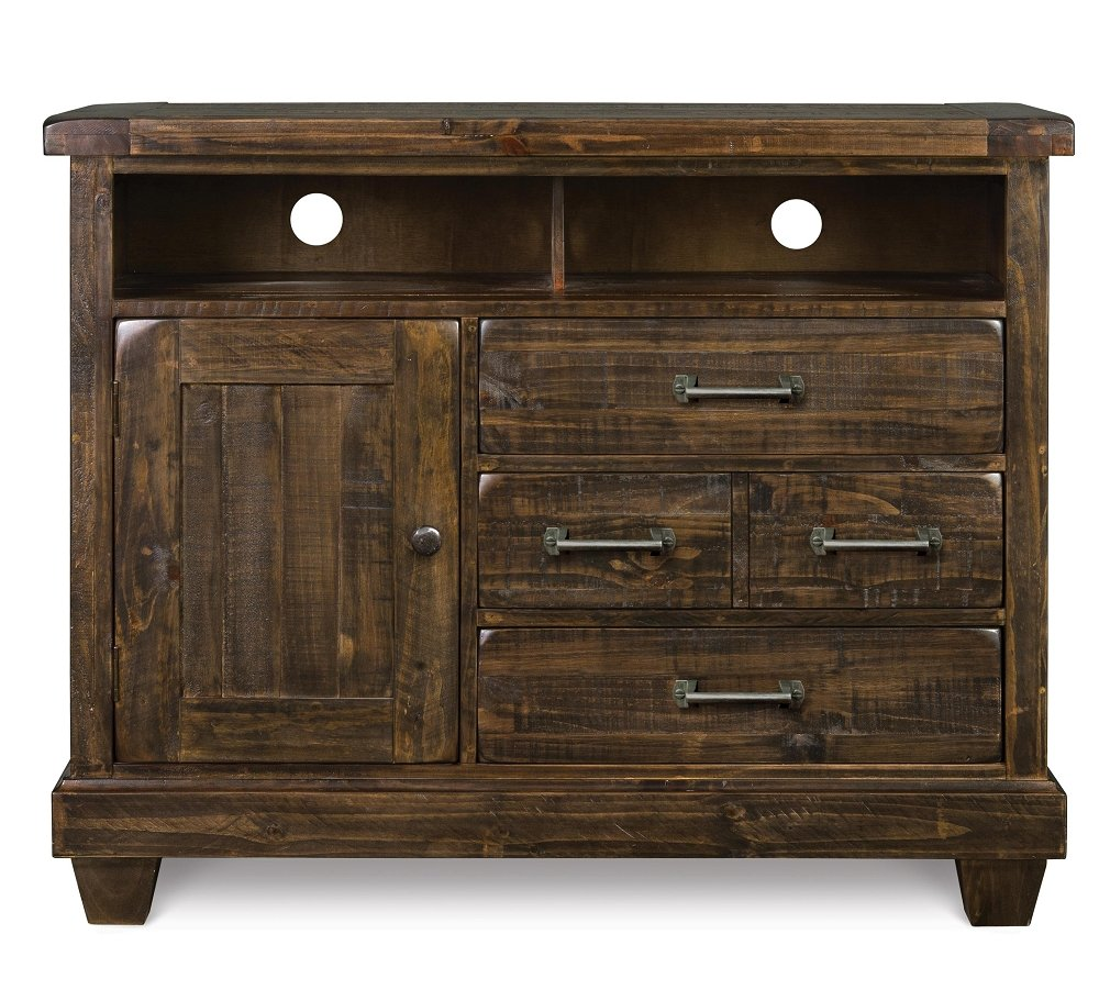 Brenley Natural Umber Wood Medium Chest Reclaimed Wood Media Console Table