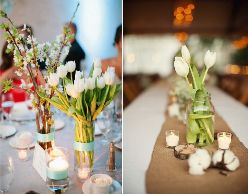 Bridal Solution Tb Inspiration White Tulip Centerpiece Ideas Decorating Tulip Table