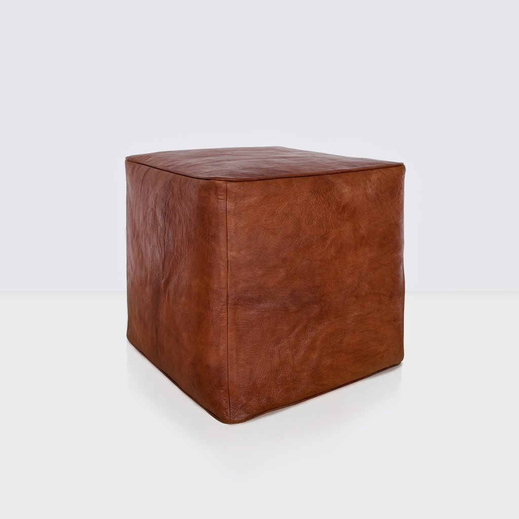 Brown Leather Ottoman Moroccan Furniture Citizenry Decorate A Leather Ottoman Coffee Table
