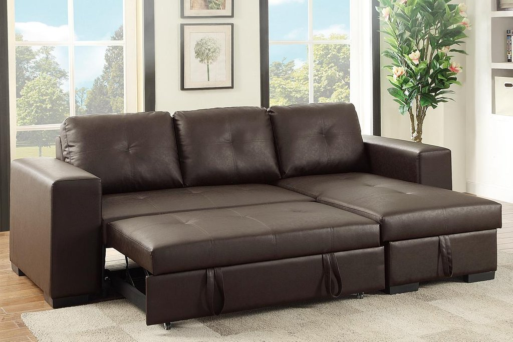 Brown Leather Sectional Sleeper Sofa Leather Sectional   Sleeper Sofa Dye
