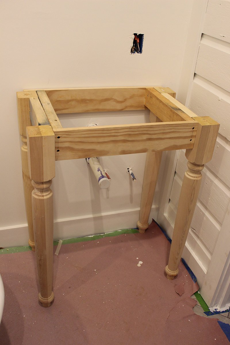 Build 60 Diy Bathroom Vanity Part 2 Attaching Mounting A Wooden Towel Rack