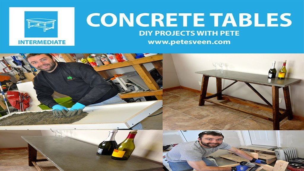Build Concrete Table Concrete Counter Top How To Build Round Wood Table Tops
