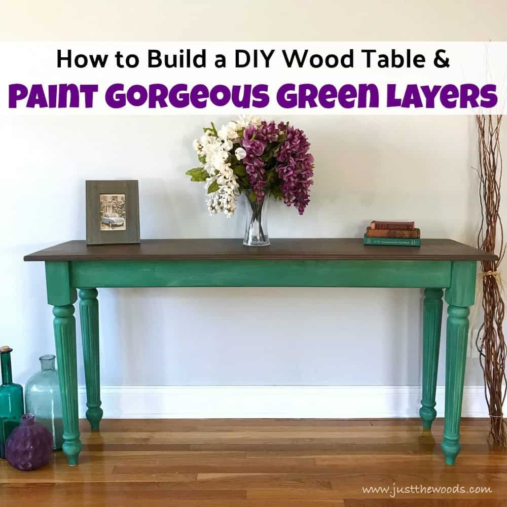 Build Diy Wood Table Paint Gorgeou Green How To Build Round Wood Table Tops