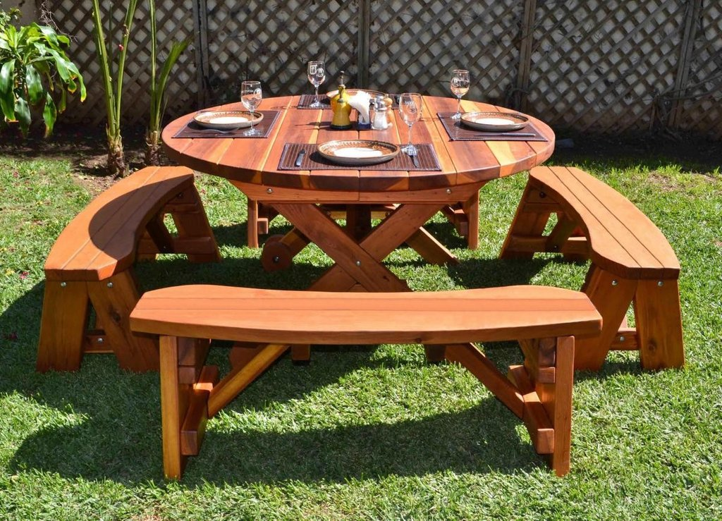 Build Picnic Table Tike Picnic Table How To Build Round Wood Table Tops