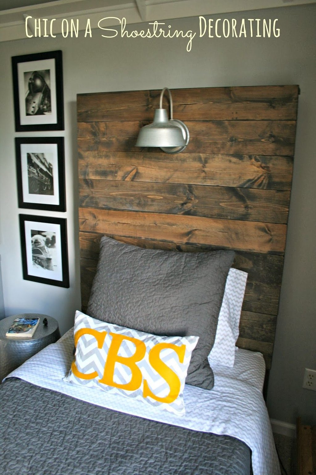 Build Rustic Wooden Headboard Attached Wall Mounted Headboard