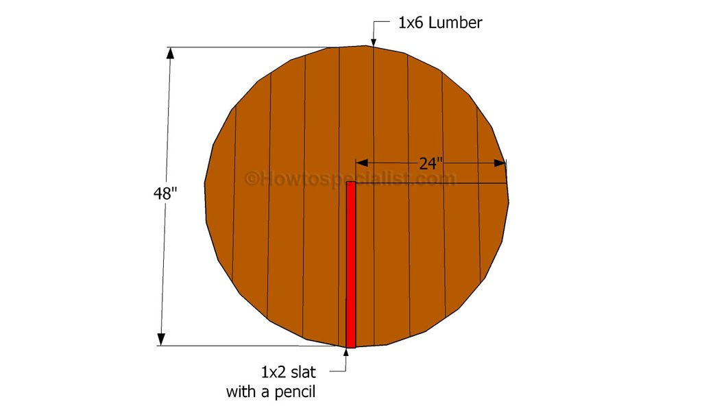 Build Table Howtospecialist How To Build Round Wood Table Tops