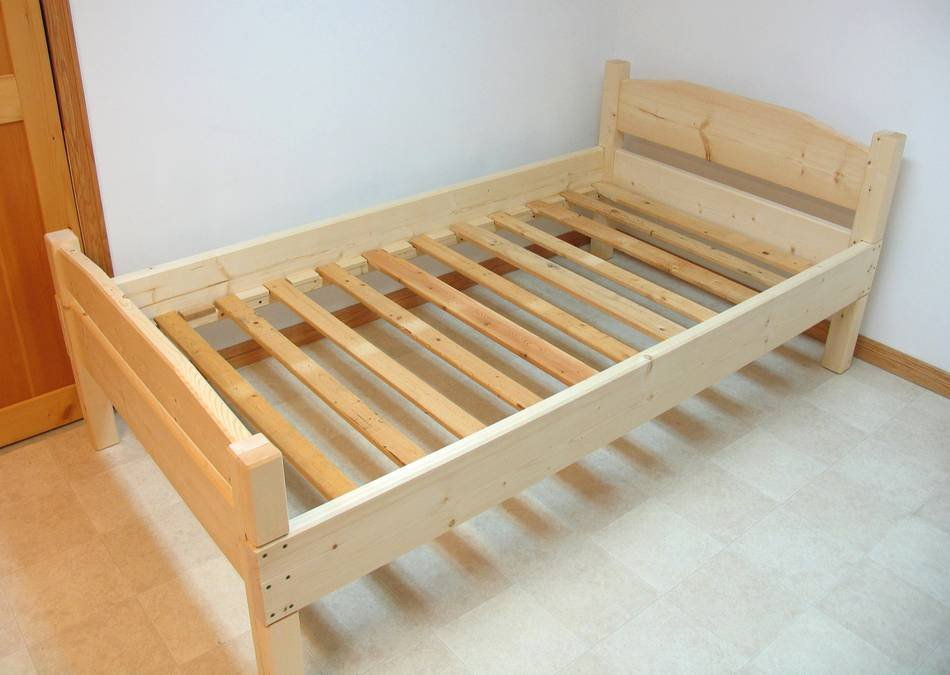 Building Bed Build Wooden Twin Bed Frame