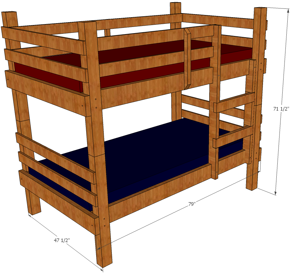 Bunk Bed Building Plan Stair Woodworking Plan Build Wooden Twin Bed Frame