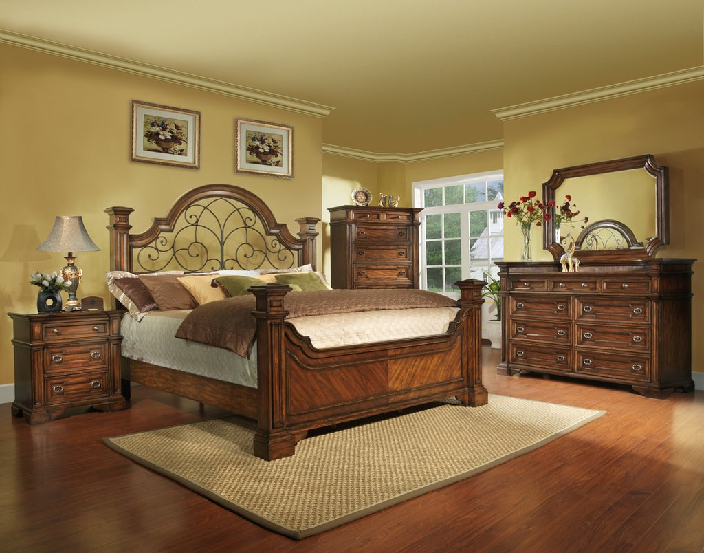 Burleson Home Furnishing King Size Antique Brown Making An Wrought Iron Headboard