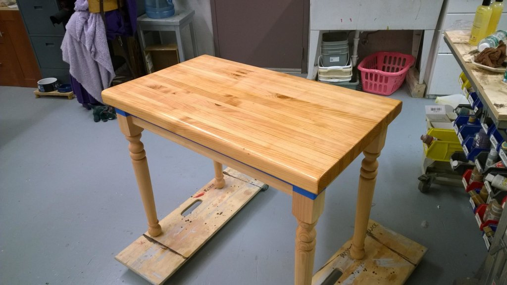 Butcher Block Kitchen Table Create Whimsy Repainting Butcher Block Kitchen Table