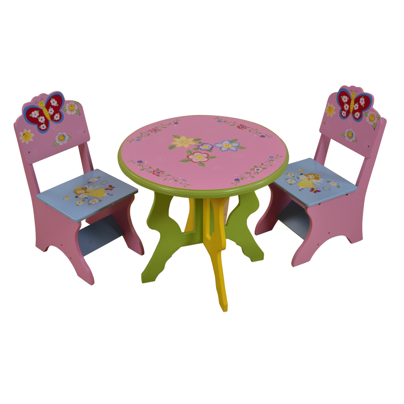 Butterfly Table Chair Set Kiddiescorner Round Dining Table With Leaf Butterfly