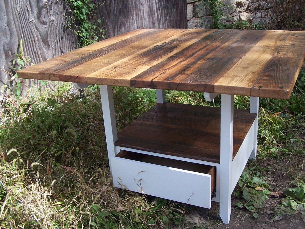 Buy Handmade Reclaimed Wood Kitchen Table Storage Making An Drop Leaf Kitchen Table