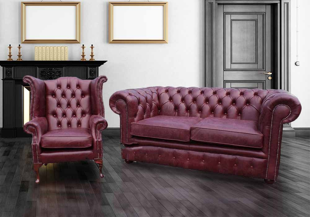 Buy Leather Suite Chesterfield Furniture Designersofas4u Decorating Burgundy Leather Sofa