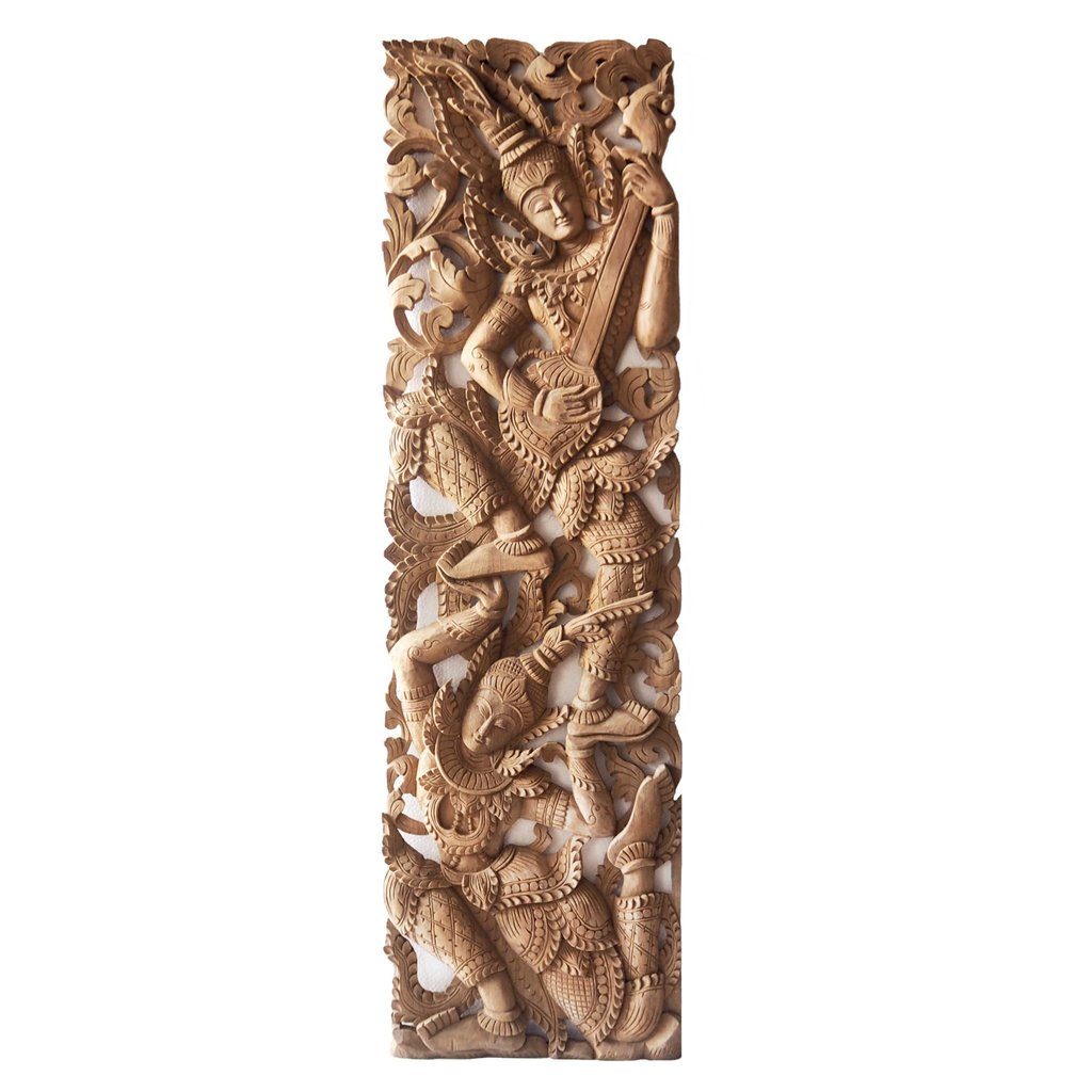 Buy Tropical Angel Carving Wooden Panel Online How Make Queen Bookcase Headboard