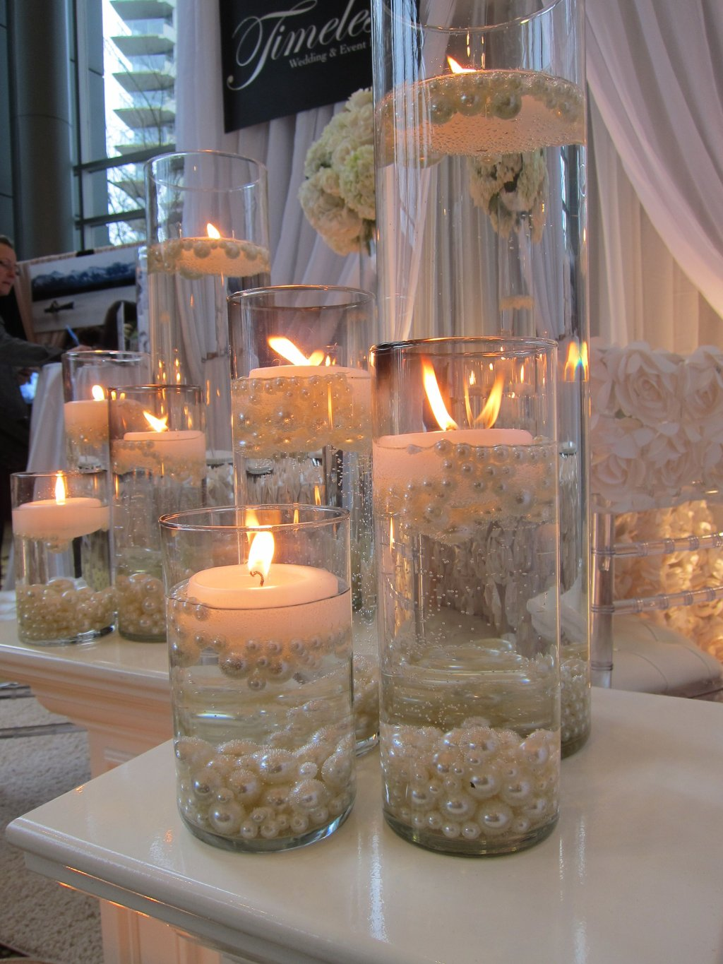 Candle Pearl Centerpiece Candlelight Focu Making Dining Room Table Centerpieces