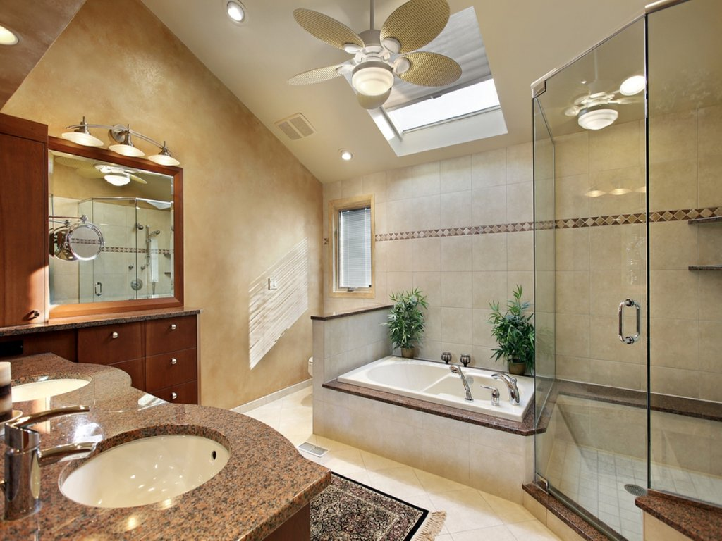 Ceiling Bathroom Skylight Tub Separate Decorative Copper Ceiling Tiles Tips