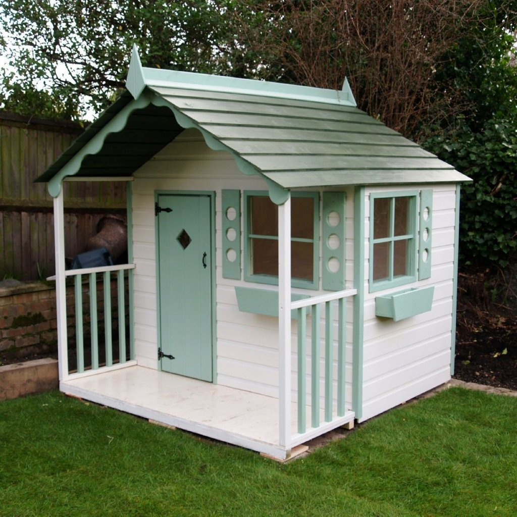 Chalet Playhouse Wooden Child 39 Cottage Solid Wood Durability Of Kids Wooden Playhouse