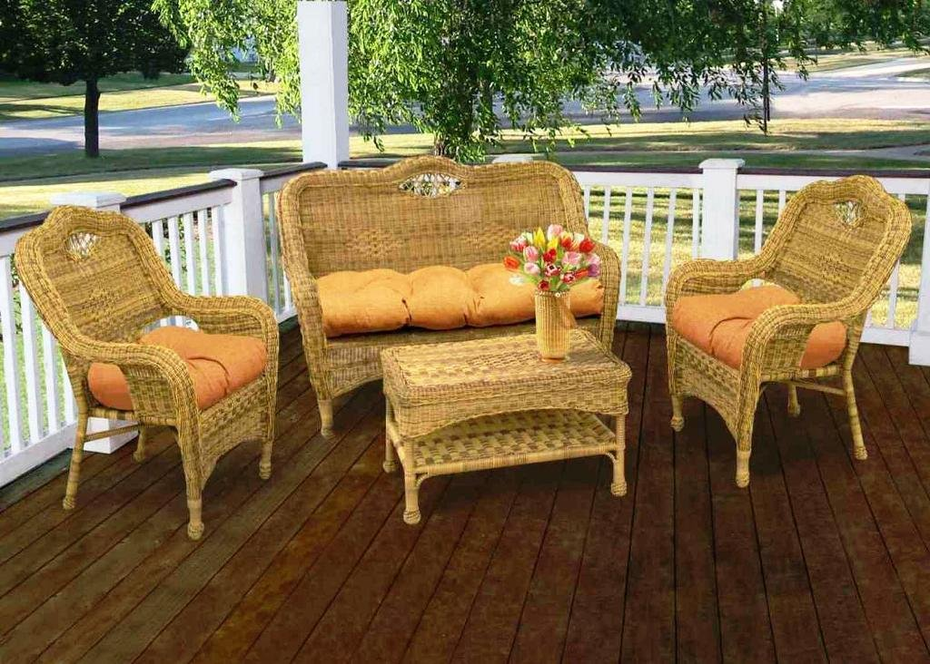 Chalk Painting Wicker Furniture Thehrtechnologist Painted The Wicker End Tables