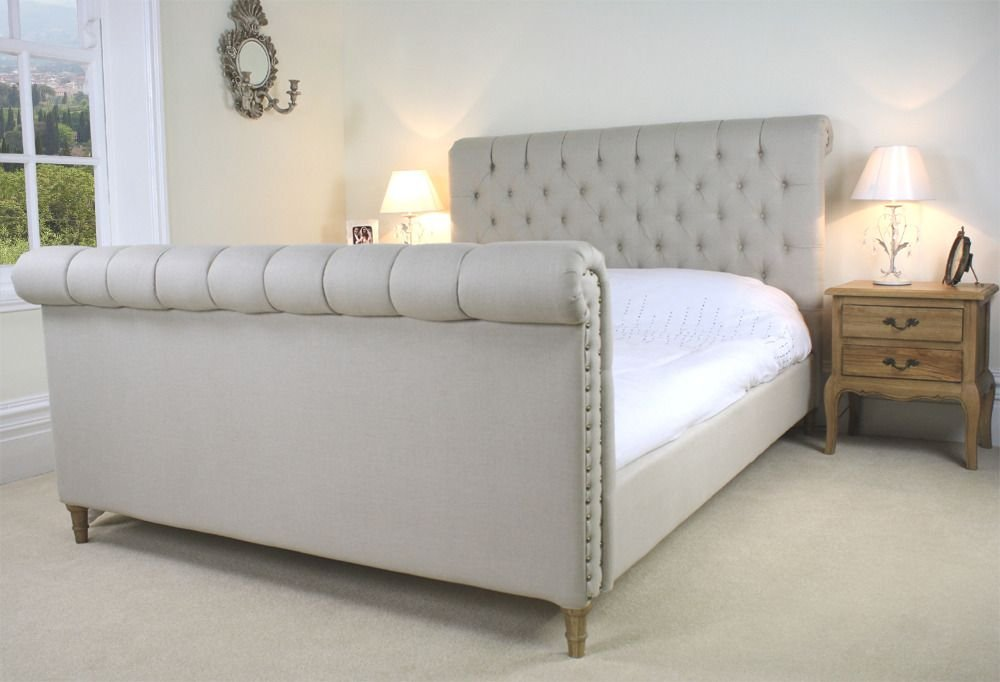 Chesterfield Upholstered Sleigh Bed Upholstered French Chesterfield Sofa Restoration Hardware