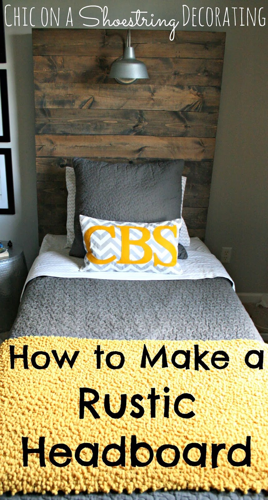 Chic Shoestring Decorating Build Rustic Barn Wood Headboard Ideas