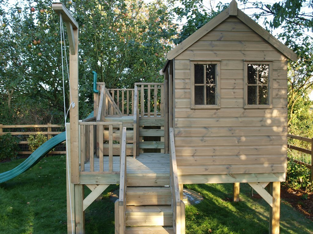 Children Treehouse Shelter Treehouse Playhouse Durability Of Kids Wooden Playhouse