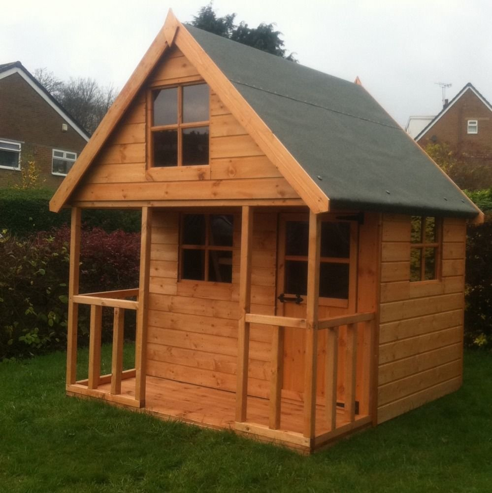Children Wooden Play House 6x6 Mini Chateau Timber Kids Outdoor Wooden Playhouse Ideas