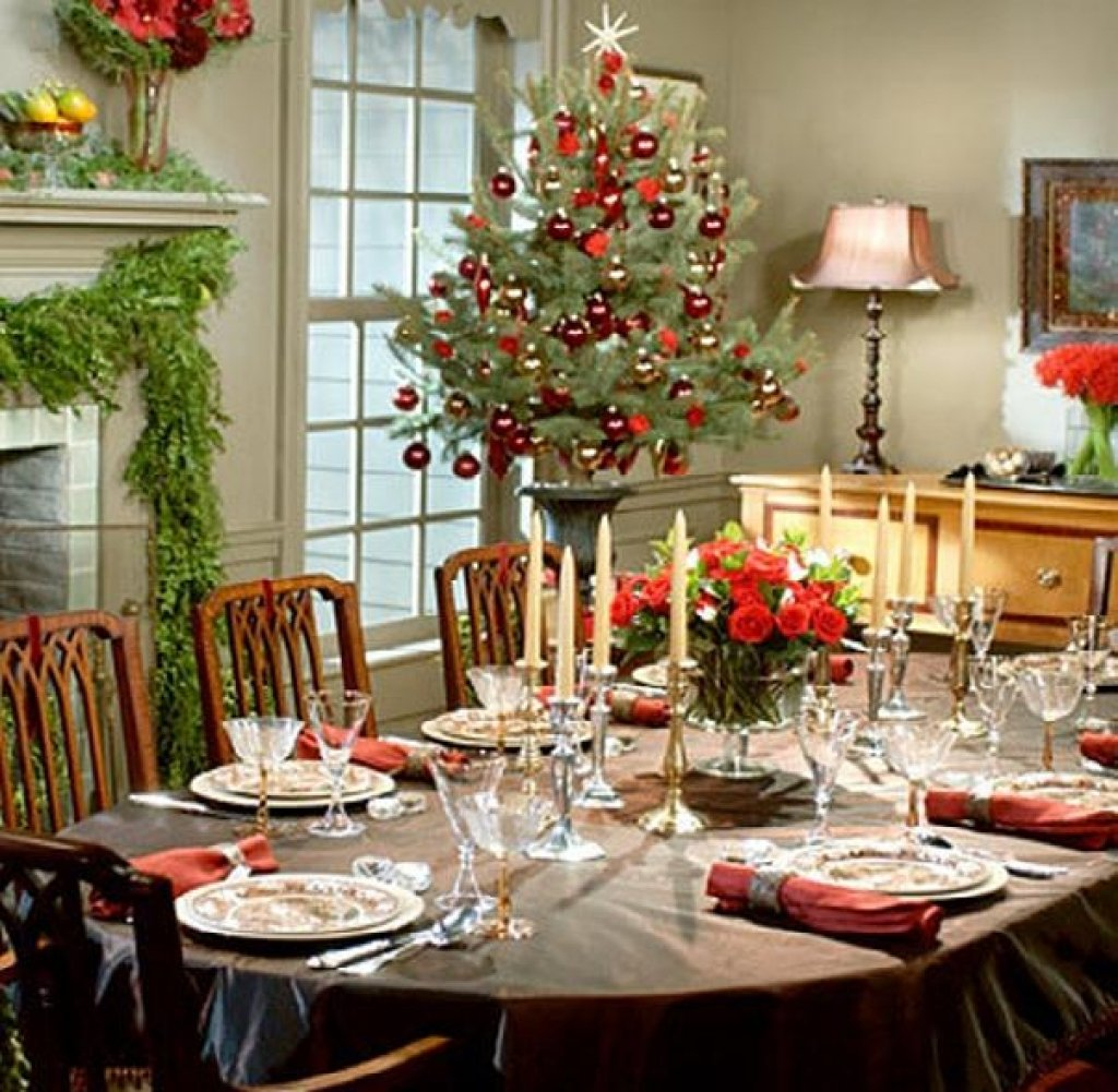 Christma Brunch Table Setting Christma Dining Table Dining Room Table Centerpieces Ideas