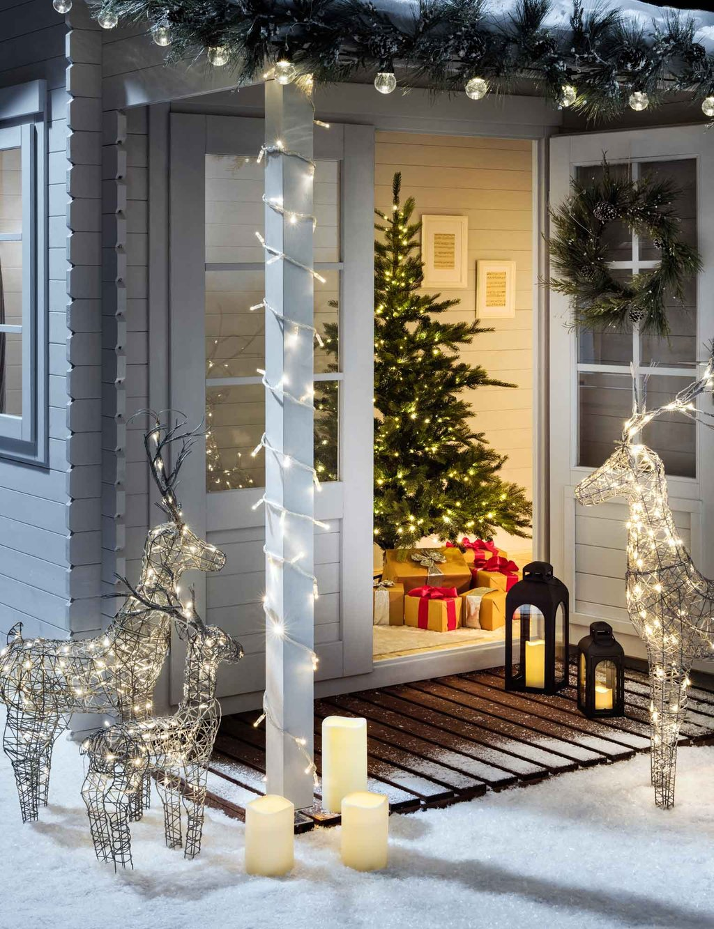 Christma Porch Pathway Light Idea Christma Light Christmas Light Ideas, Gorgeous Christmas Lighting Collections