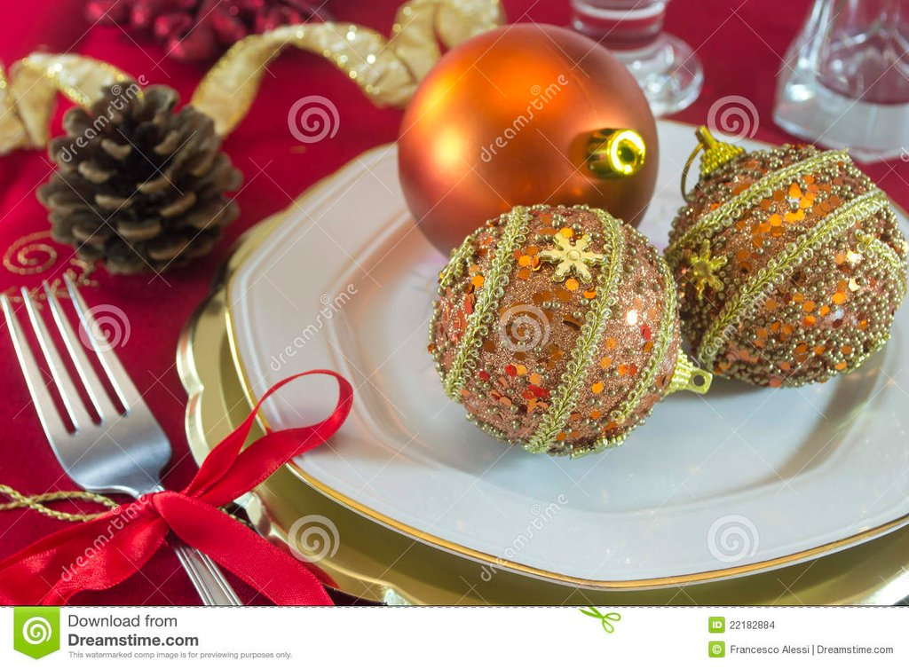 Christma Table Decoration Stock Image Image 22182884 Christmas Tree Decorations Ideas