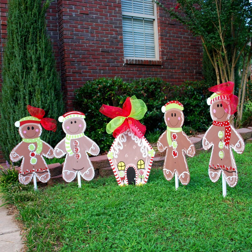 Christma Yard Decor Gingerbread Man Christma Outdoor Christmas Decorations Ideas