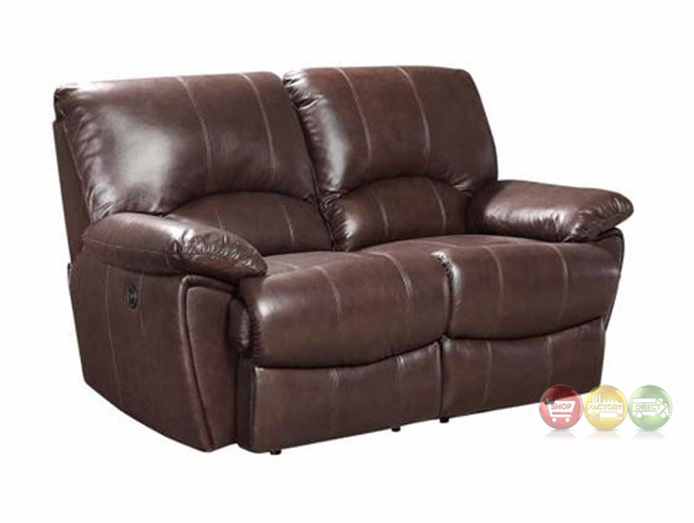 Clifford Dual Reclining Brown Top Grain Leather Motion Removing Dual Reclining Sofa