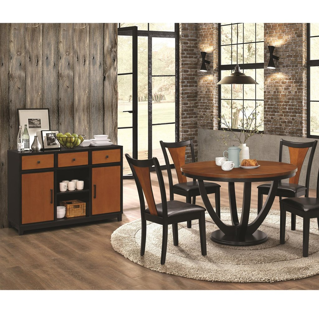 Coaster Boyer Contemporary 5 Piece Table Chair Set Making An Drop Leaf Kitchen Table