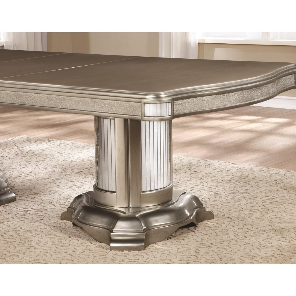 Coaster Danette Double Pedestal Dining Table Leaf Double Pedestal Dining Table Antique